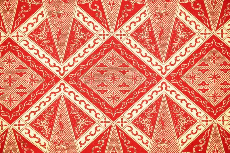 Modello tradizionale del Sarong del batik fotografie stock libere da diritti