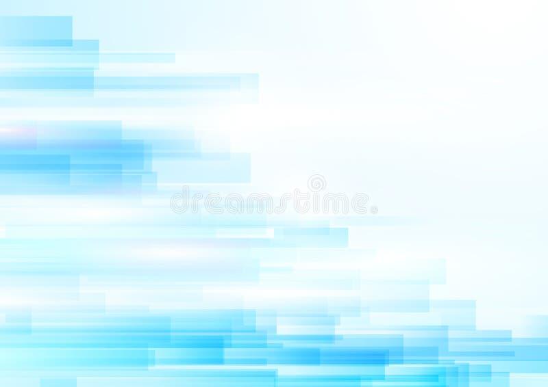 Fondo transparente brillante geométrico abstracto azul del movimiento stock de ilustración