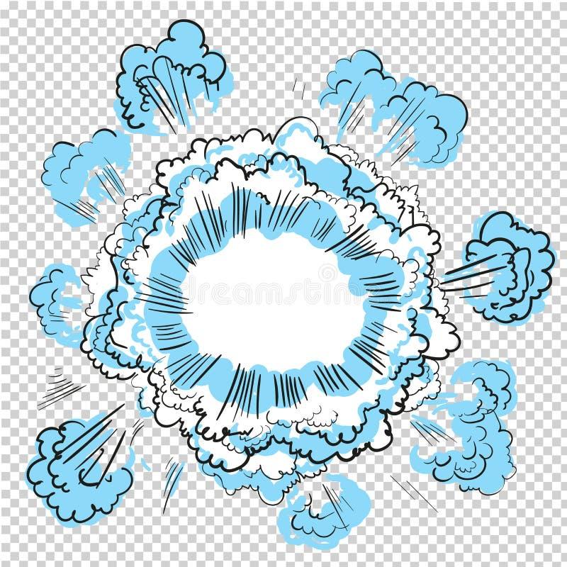 Fondo transparente con diseño del vector de la explosión del cómic del auge libre illustration