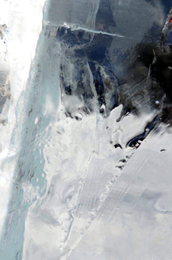 Fondo transparente natural de la textura de los cristales de hielo fotografía de archivo libre de regalías
