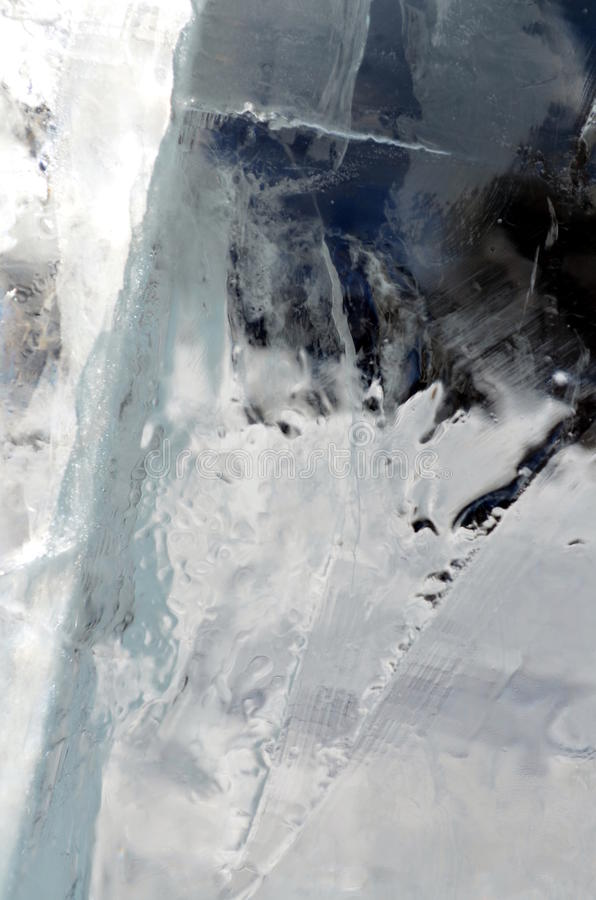 Fondo transparente natural de la textura de los cristales de hielo imágenes de archivo libres de regalías