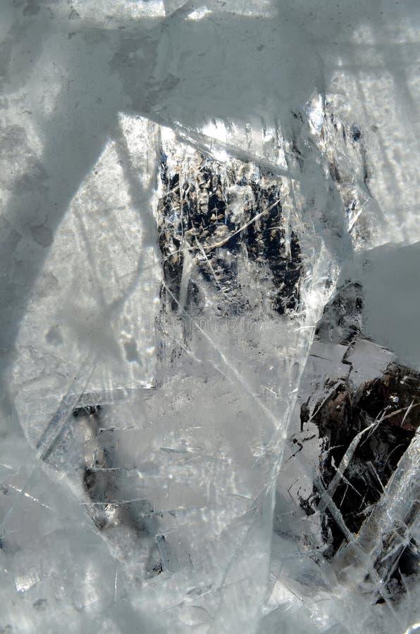 Fondo transparente natural de la textura de los cristales de hielo fotos de archivo libres de regalías