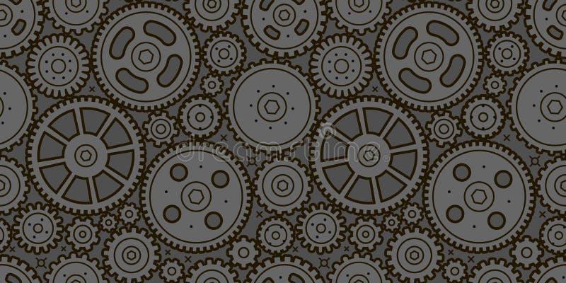 Fondo transparente para los engranajes. Concepto comercial, industrial y tecnológico. Vector libre illustration