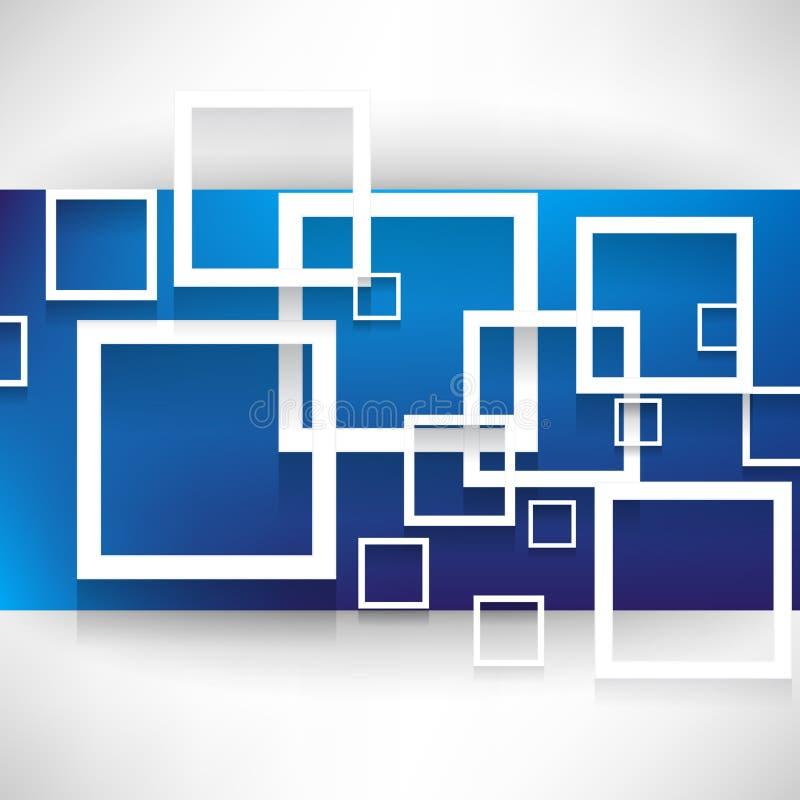 Fondo traslapado del concepto de los cuadrados ilustración del vector