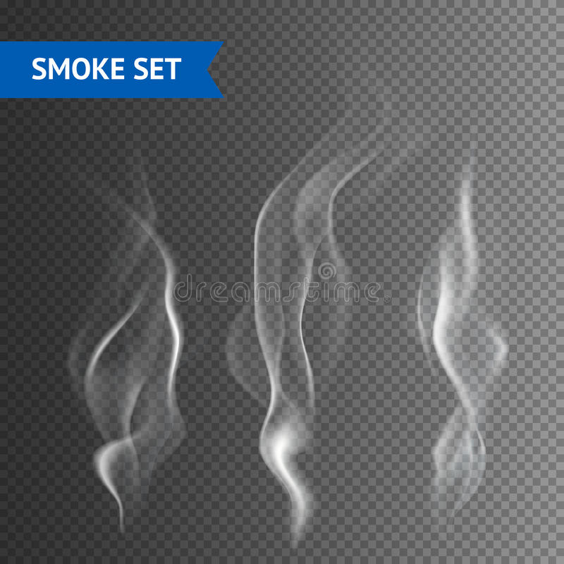 Fondo trasparente del fumo illustrazione di stock