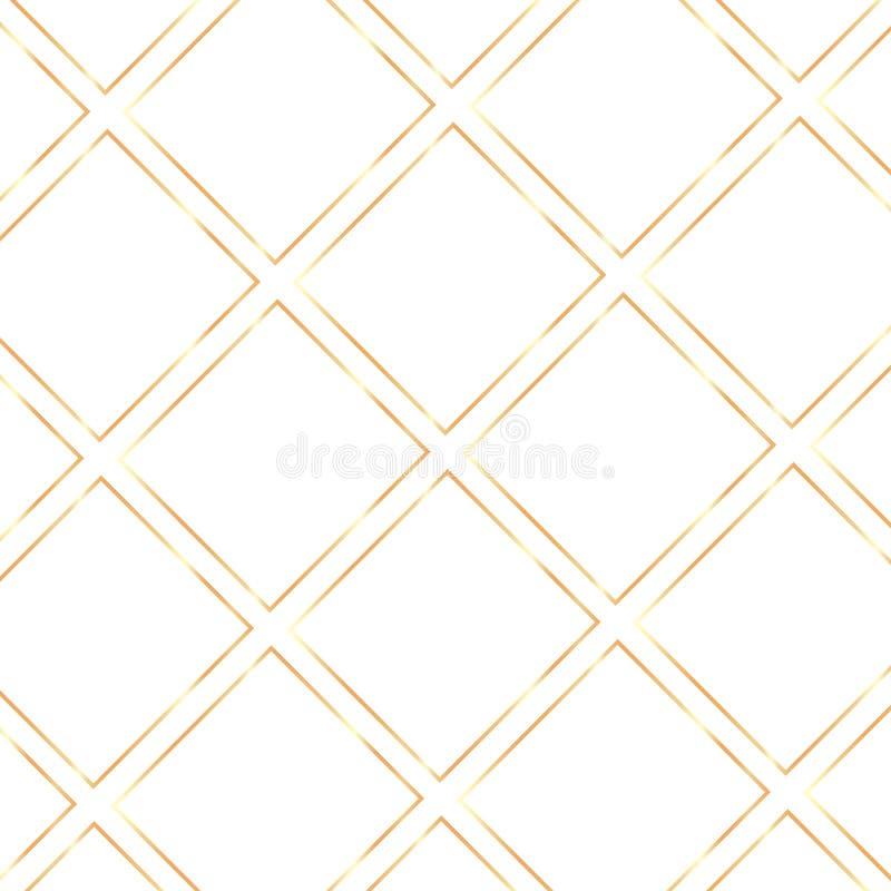 Fondo trasparente delle strutture brillanti realistiche d'annata dorate illustrazione vettoriale