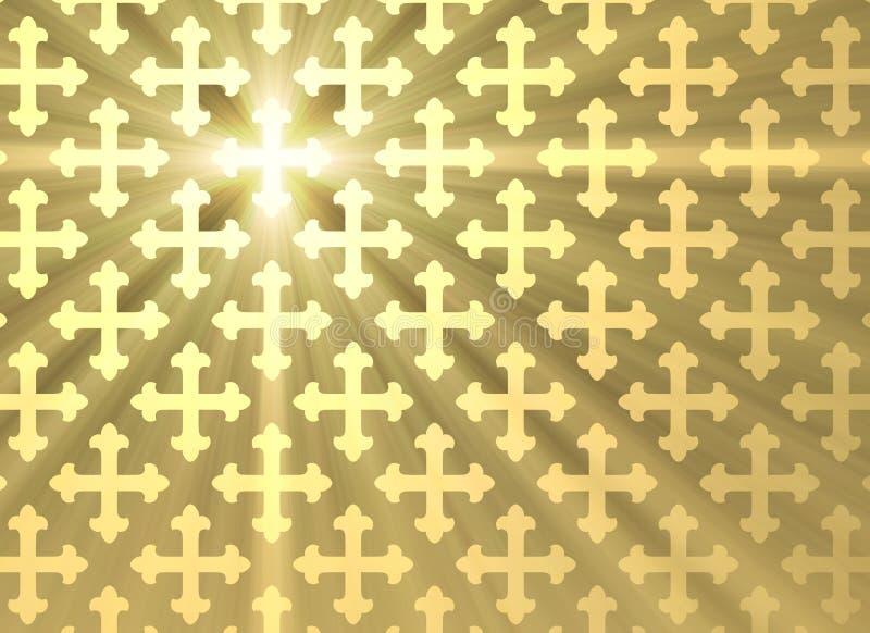 Fondo trasversale gotico della luce del sole illustrazione vettoriale