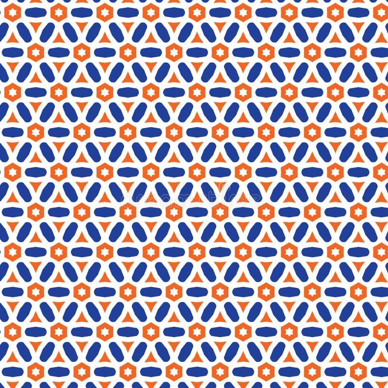 Fondo tratteggiato del tessuto del modello delle stelle luminose astratte del disegno illustrazione vettoriale