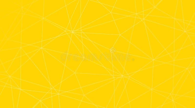 Fondo triangolare astratto giallo di vettore royalty illustrazione gratis