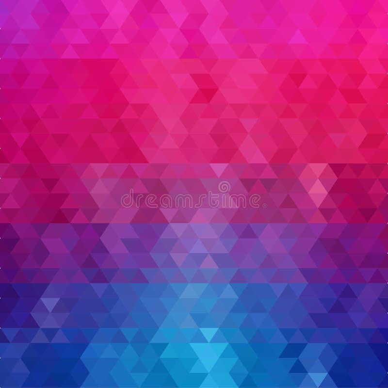 Fondo triangolare colorato Illustrazione astratta ENV 10 di vettore illustrazione di stock