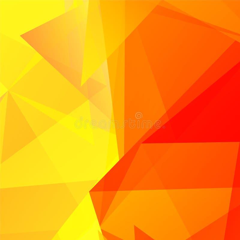 Fondo triangolare geometrico arancio astratto di vettore illustrazione vettoriale