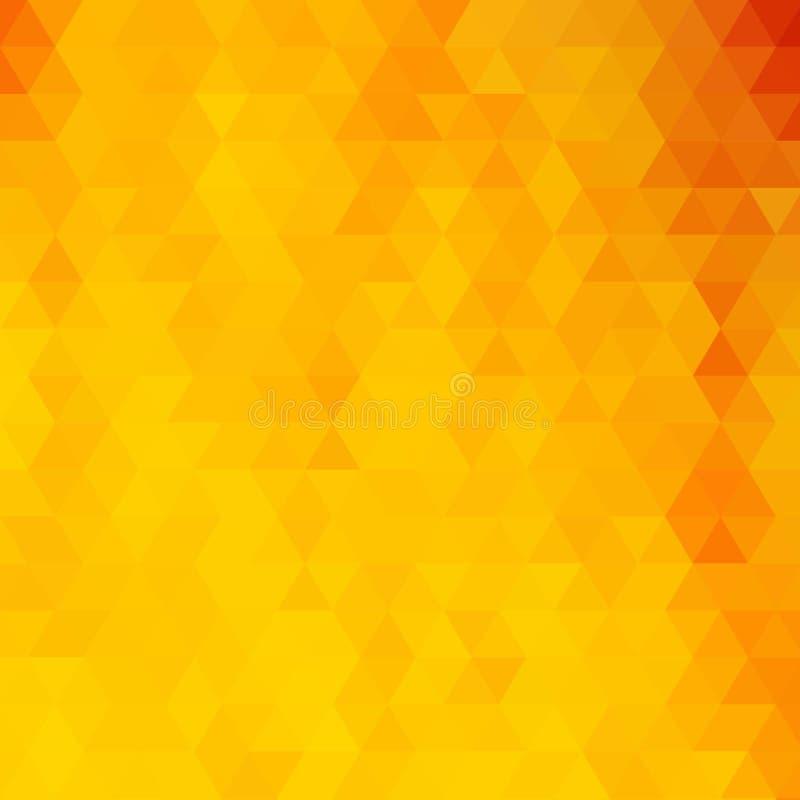 Fondo triangolare giallo luminoso illustrazione astratta di vettore ENV 10 illustrazione vettoriale