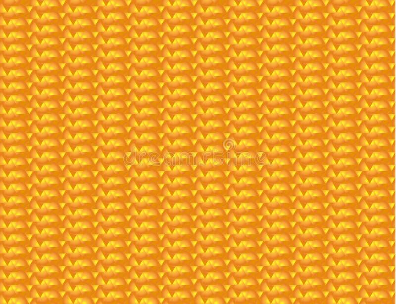 Fondo triangolare senza cuciture arancio e giallo astratto Illustrazione di vettore di struttura geometrica illustrazione vettoriale
