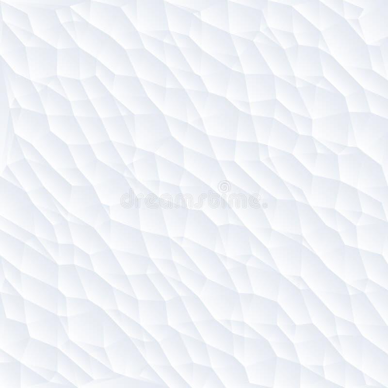 Fondo triangulado del extracto blanco del polígono, illustrat del vector ilustración del vector