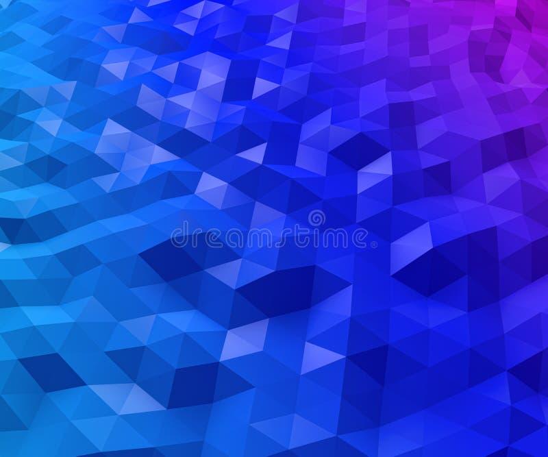 Fondo triangular abstracto del polígono ilustración del vector