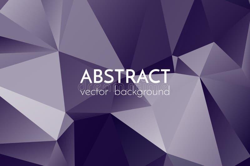 Fondo triangular abstracto Fondo oscuro de triángulos ilustración del vector
