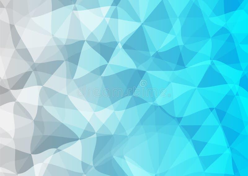Fondo Triangular Azul Y Gris Ilustración Del Vector