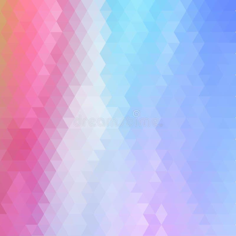 Fondo triangular coloreado brillante Estilo del mosaico EPS 10 stock de ilustración