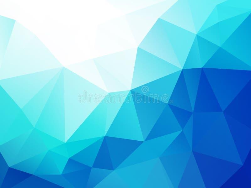 Fondo triangular del extracto geométrico azul de la onda ilustración del vector