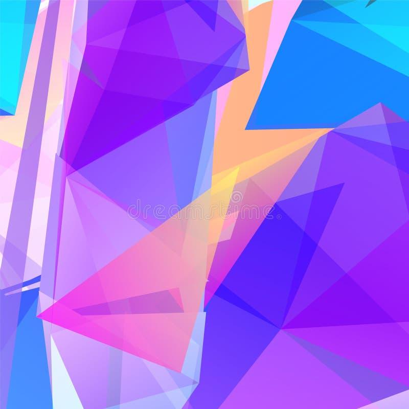 Fondo triangular geométrico abstracto del vector ilustración del vector