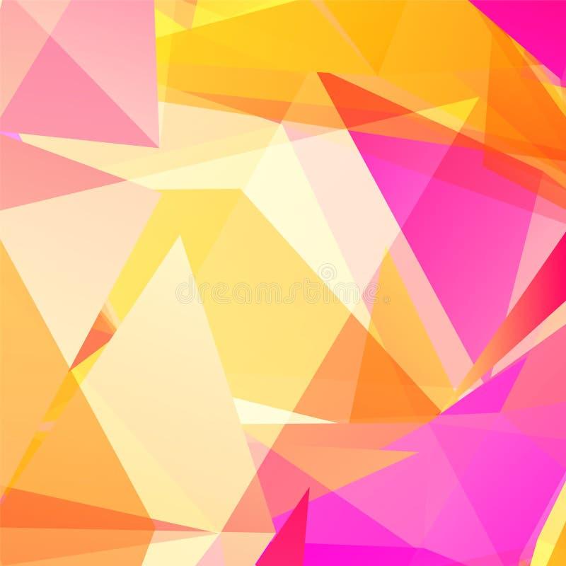 Fondo triangular geométrico abstracto del vector libre illustration