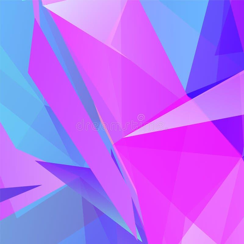 Fondo triangular geométrico violeta abstracto del vector ilustración del vector