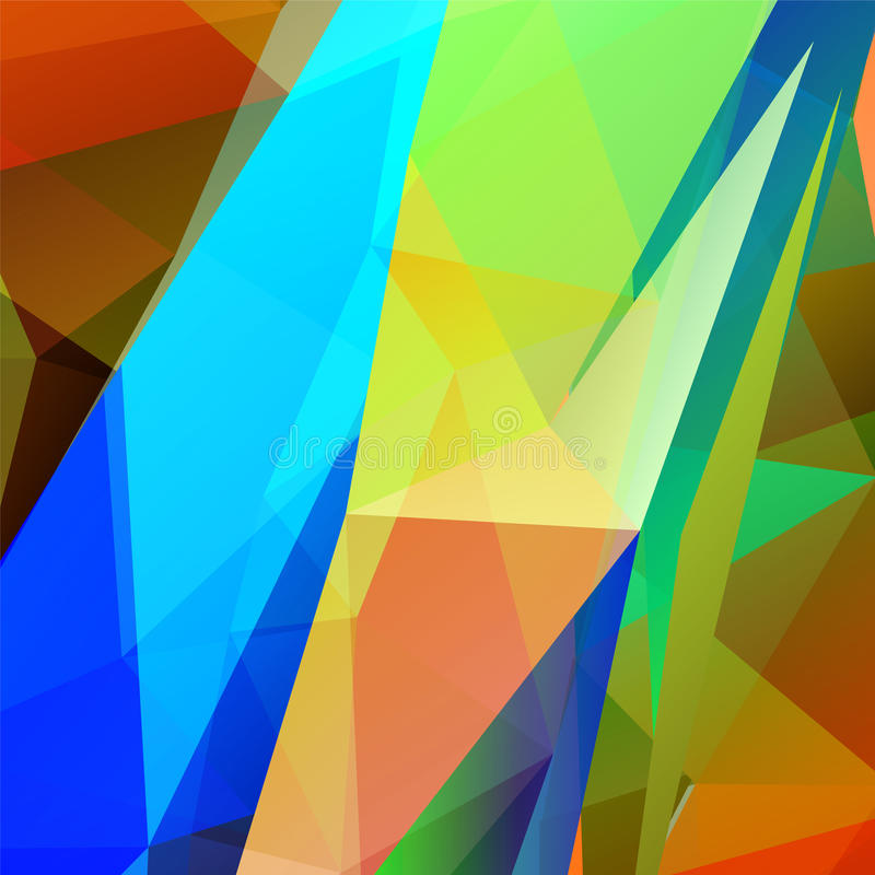 Fondo triangular multicolor geométrico abstracto del vector stock de ilustración