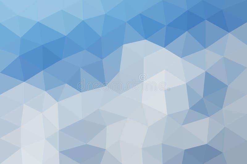 Fondo triangular polivinílico bajo stock de ilustración