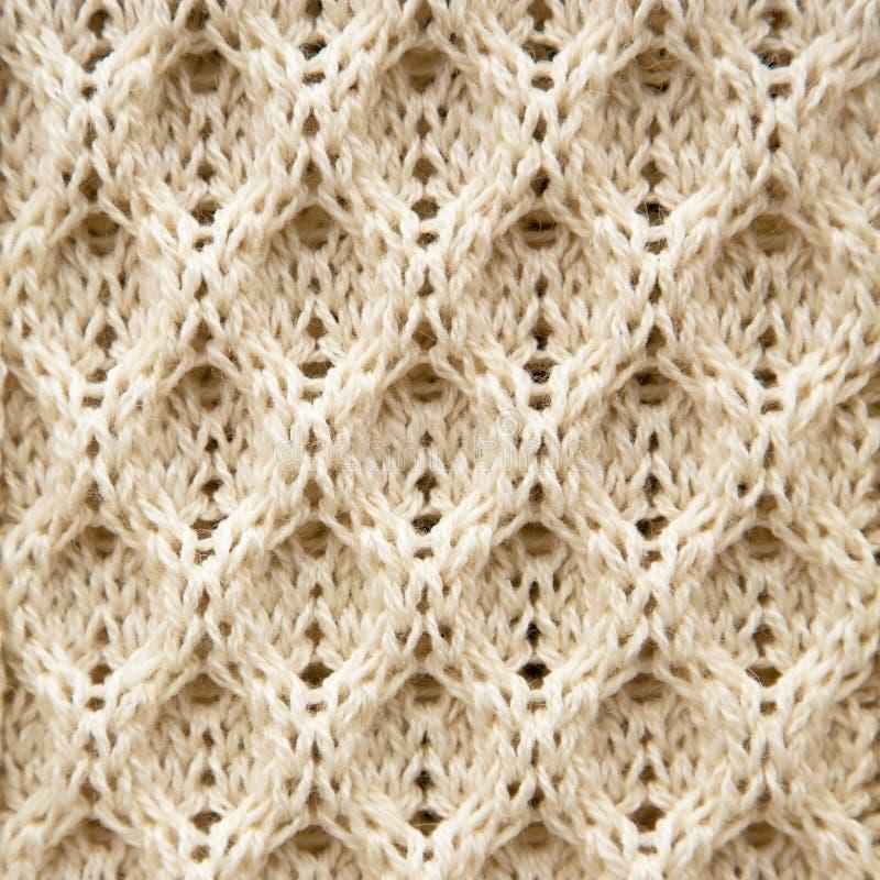 Fondo tricottato della lana di Aran fotografia stock