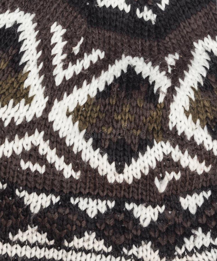 Fondo tricottato Gray del cappello della lana fotografie stock libere da diritti