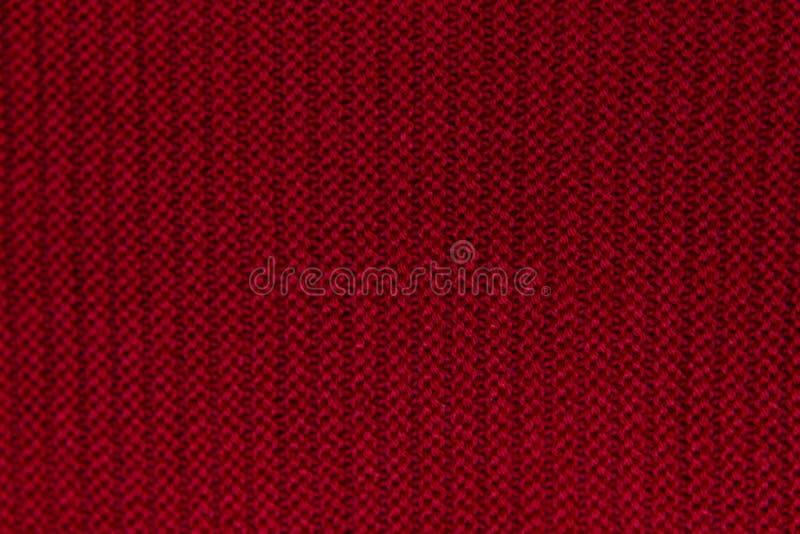 Fondo tricottato lana rossa immagini stock libere da diritti