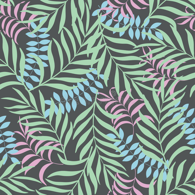 Fondo tropical con las hojas de palma libre illustration