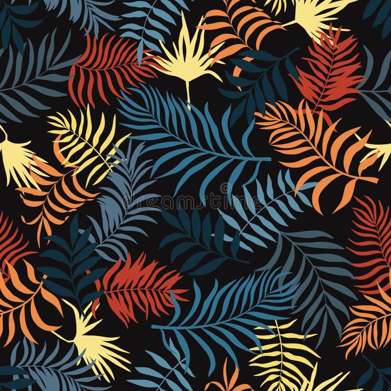 Fondo tropical con las hojas de palma Modelo floral inconsútil S libre illustration
