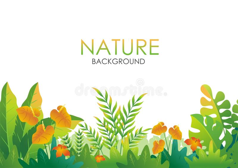 Fondo tropical de la naturaleza con diseño abstracto elegante libre illustration