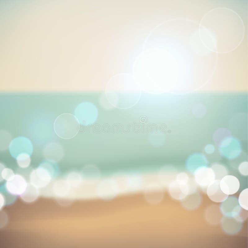 Fondo tropical de la playa de las vacaciones de verano stock de ilustración