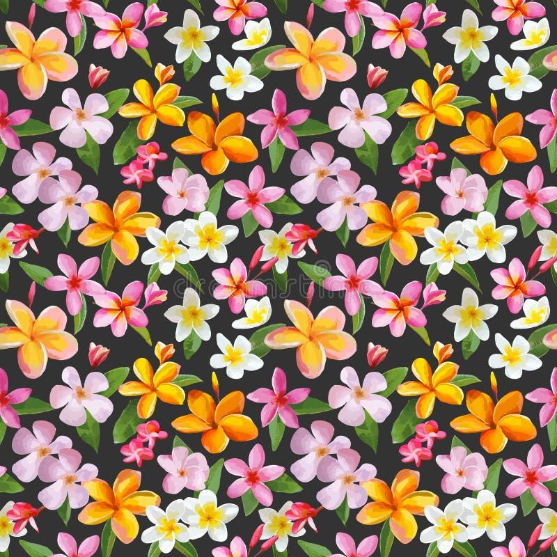 Fondo tropical de las flores ilustración del vector