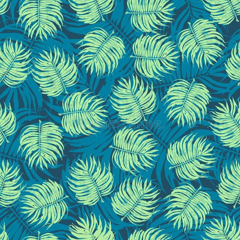 Fondo tropical del estampado de flores de la flor inconsútil ilustración del vector