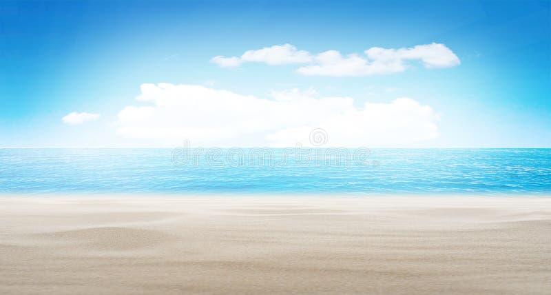 Fondo tropical del verano de la playa fotografía de archivo