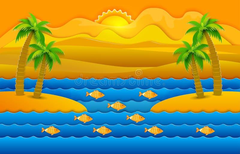 Fondo tropicale della natura royalty illustrazione gratis