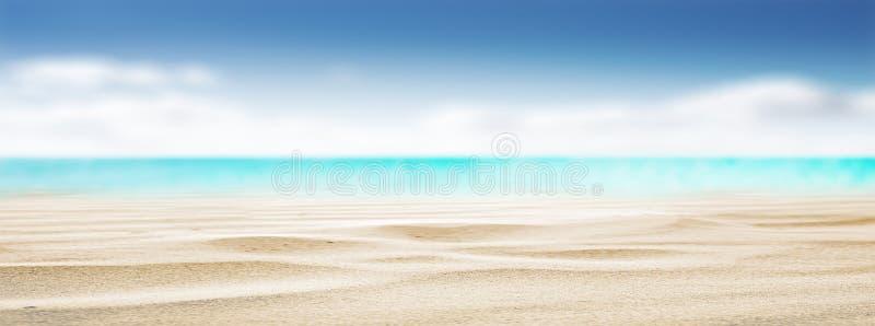 Fondo tropicale di estate della spiaggia immagini stock