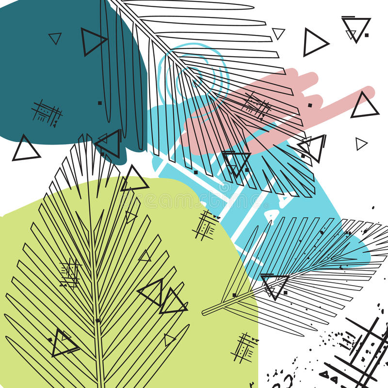Fondo tropicale universale illustrazione vettoriale