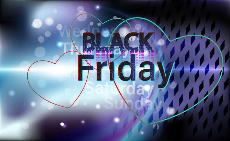 Fondo ultra moderno para las ventas de Black Friday Ilustración del vector EPS 10 ilustración del vector