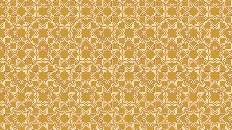 Fondo una bella decorazione islamica con le forme intrecciate armoniose, i bei colori ed i colori attraenti royalty illustrazione gratis