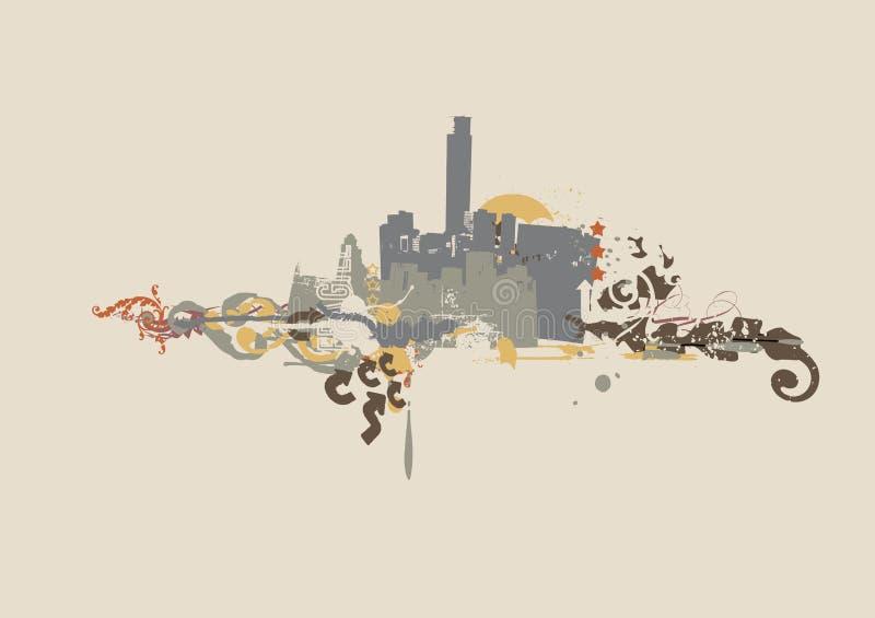 Fondo urbano ilustración del vector