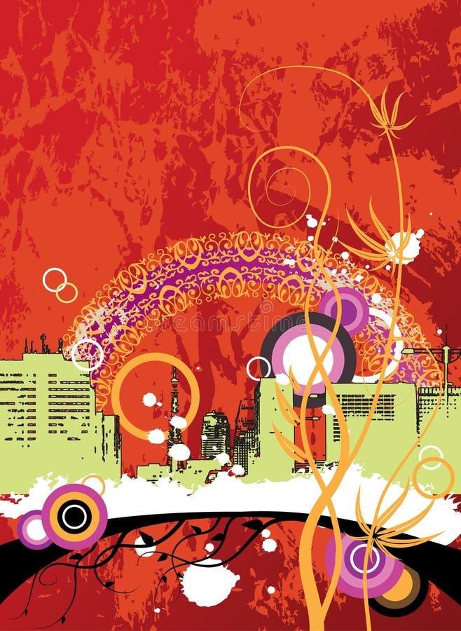 Fondo urbano abstracto stock de ilustración