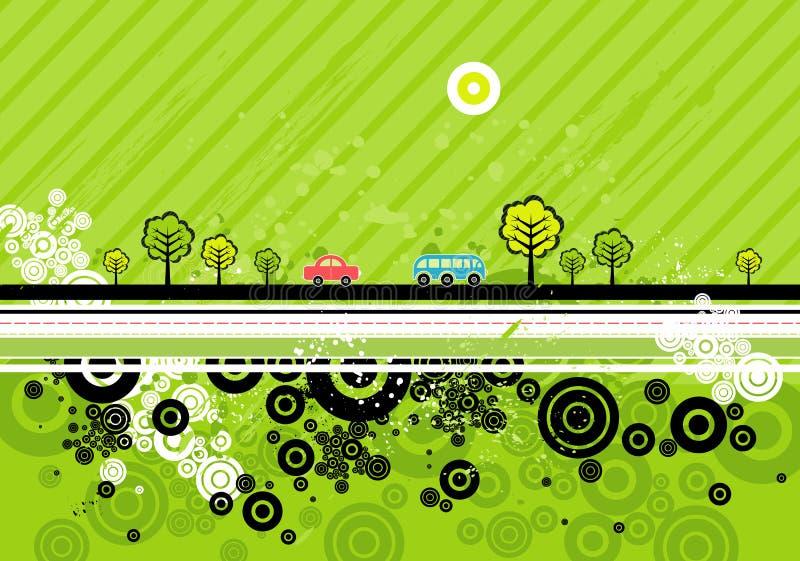 Fondo urbano, vector ilustración del vector
