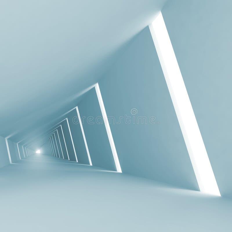 Fondo vacío abstracto azul del interior 3d libre illustration