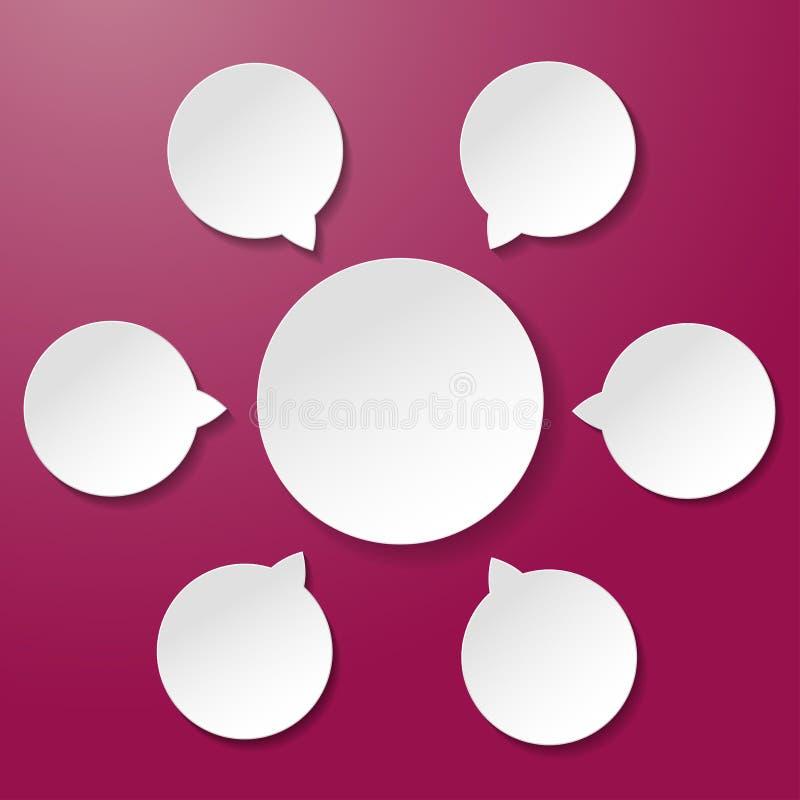 Fondo vacío de la púrpura de Diagramm libre illustration