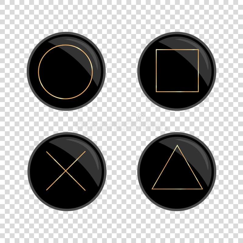 fondo vacío del anillo de la cruz cuadrada de oro del triángulo libre illustration