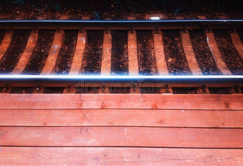 Fondo vacío del ferrocarril del vintage imagen de archivo libre de regalías